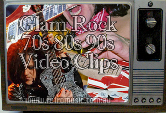 80's Glam Rock Video Disco Sydney Retro DJ hire video rock clips from 70s 80s 90s great for theme nights and 40th Birthdays & beyond
