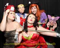 Photo Booth Hire Theme Night Super Heros Sydney