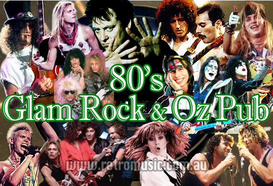 80's Retro DJ hire 80s Aussie Pub Rock & Glam RockTheme Party