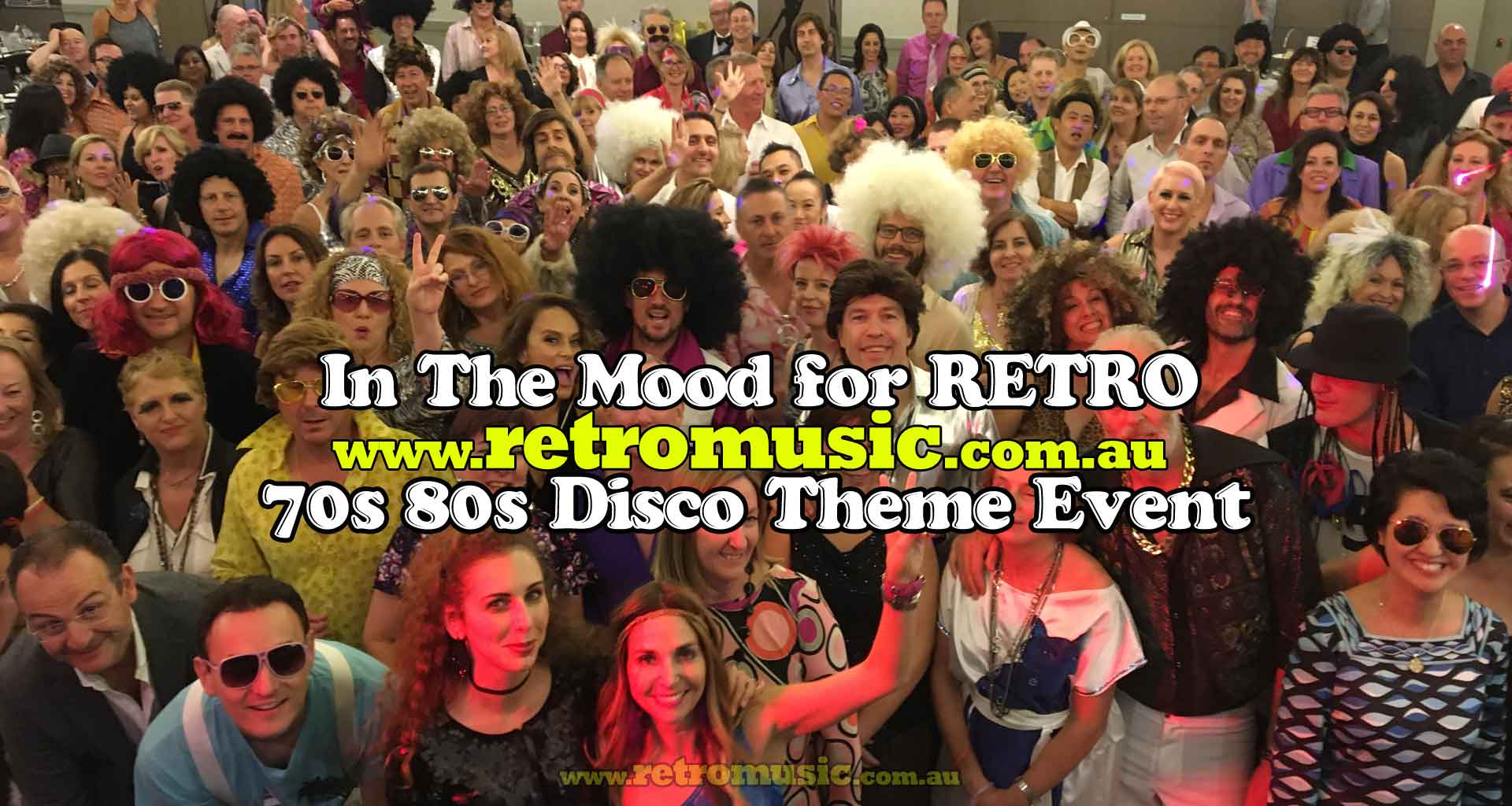 70s 80s themed event in the mood for retro