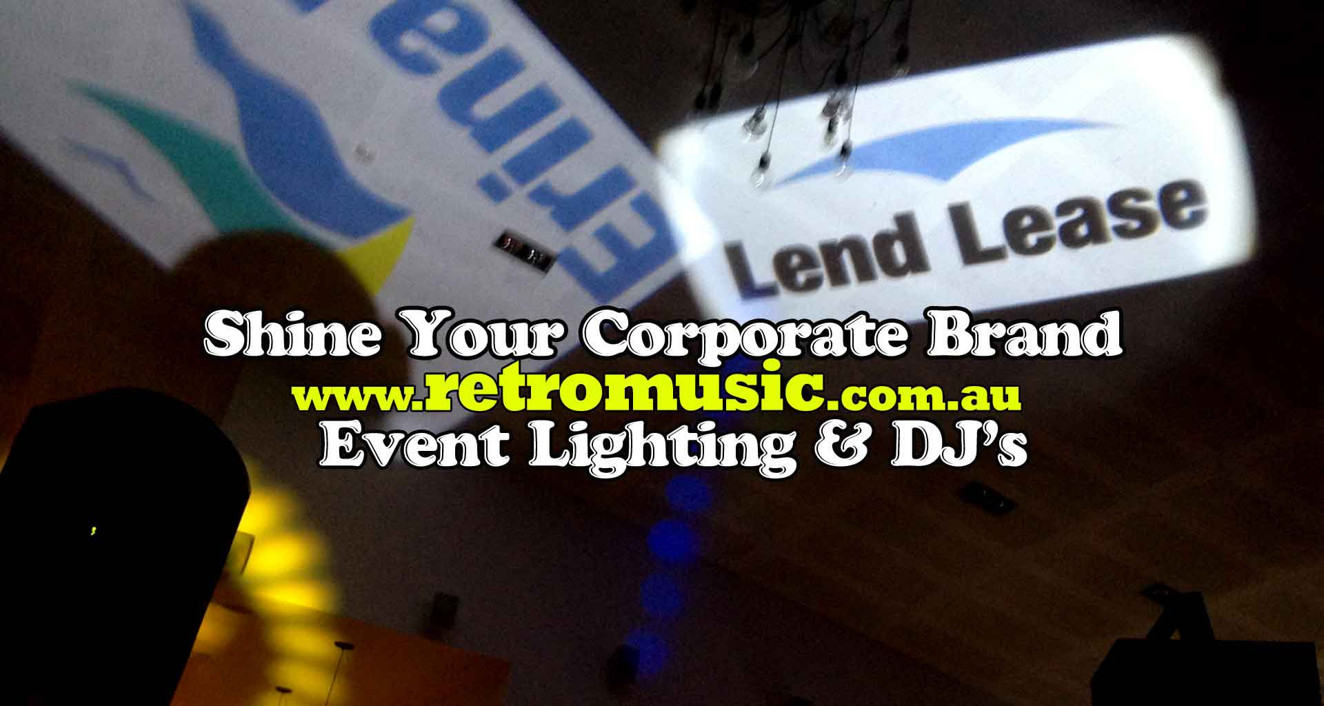 Corporate Monogram Lighting Hire