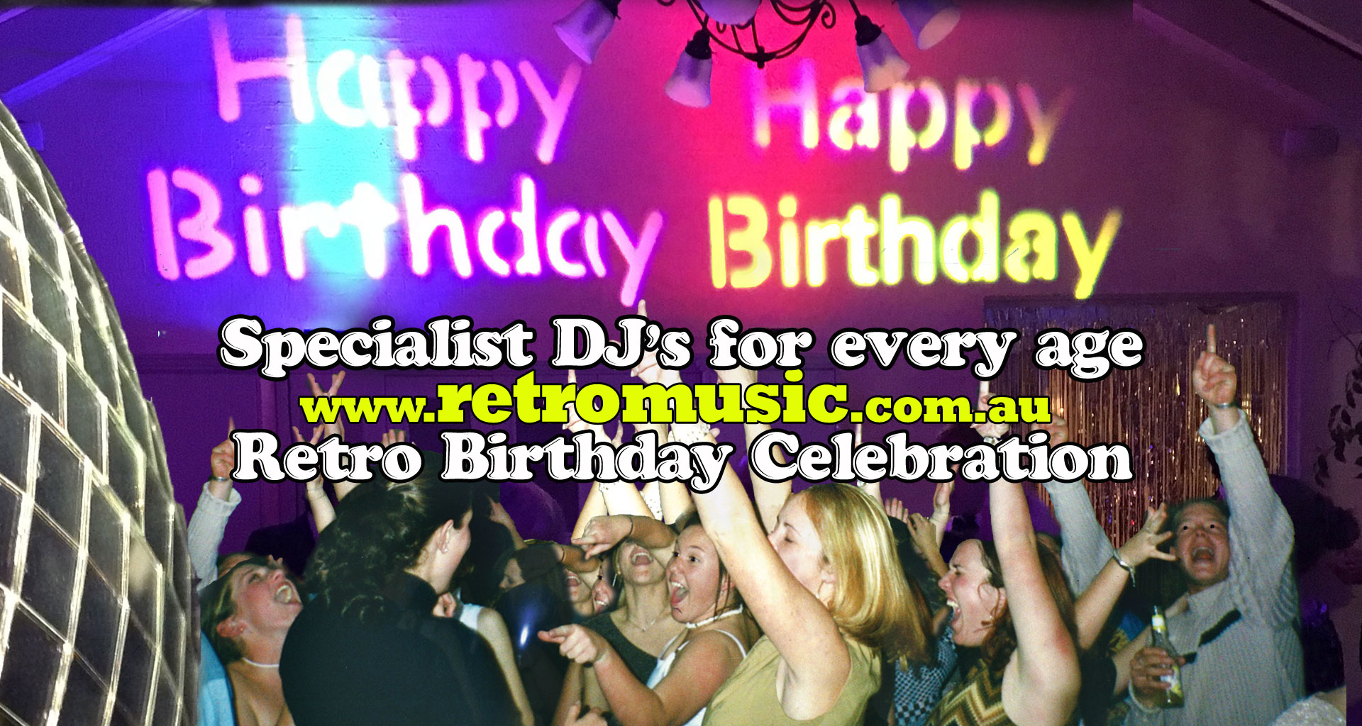 Retro Birthday dj hire