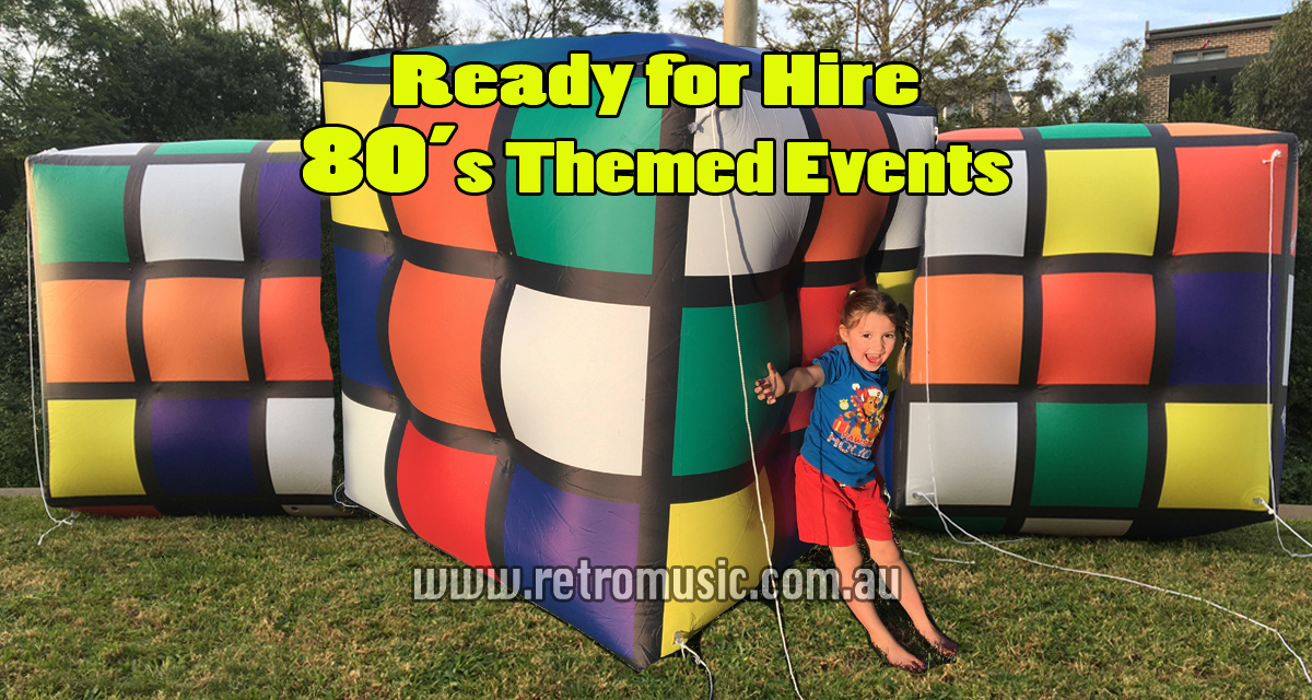 80s theme party Rubic Cube