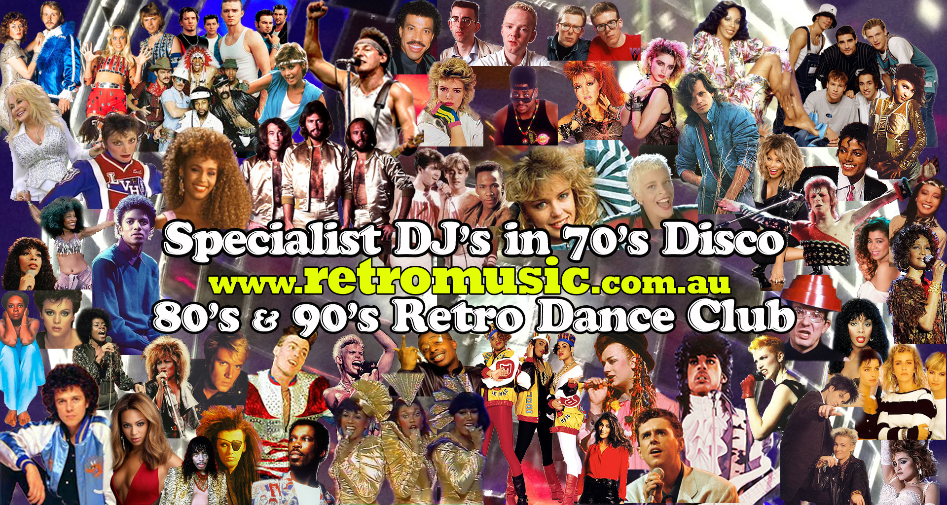 70s 80's and 90's Retro Dance