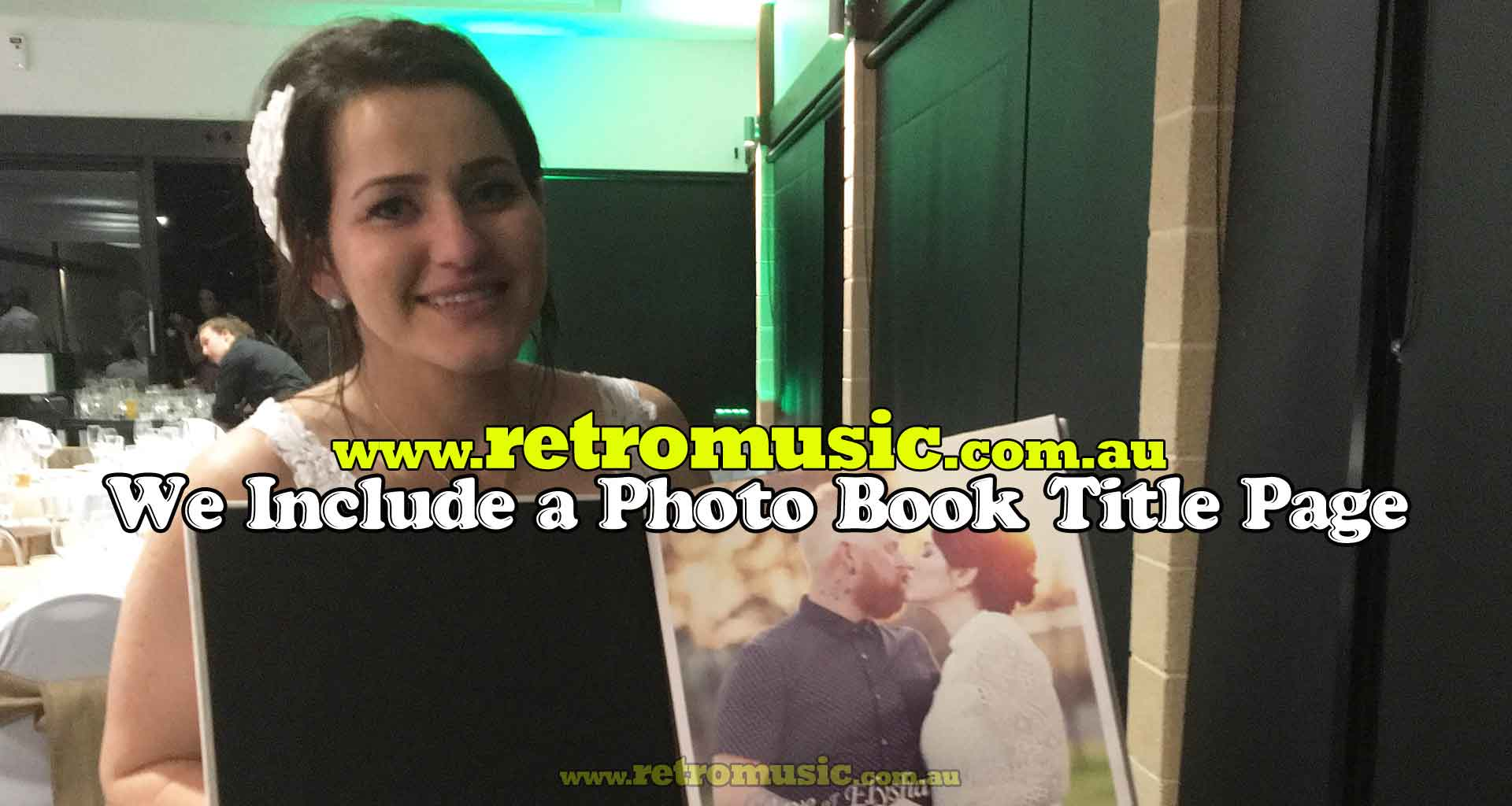 Wedding Photo Booth Hire Sydney & out of town wedding with FREE custom title page
