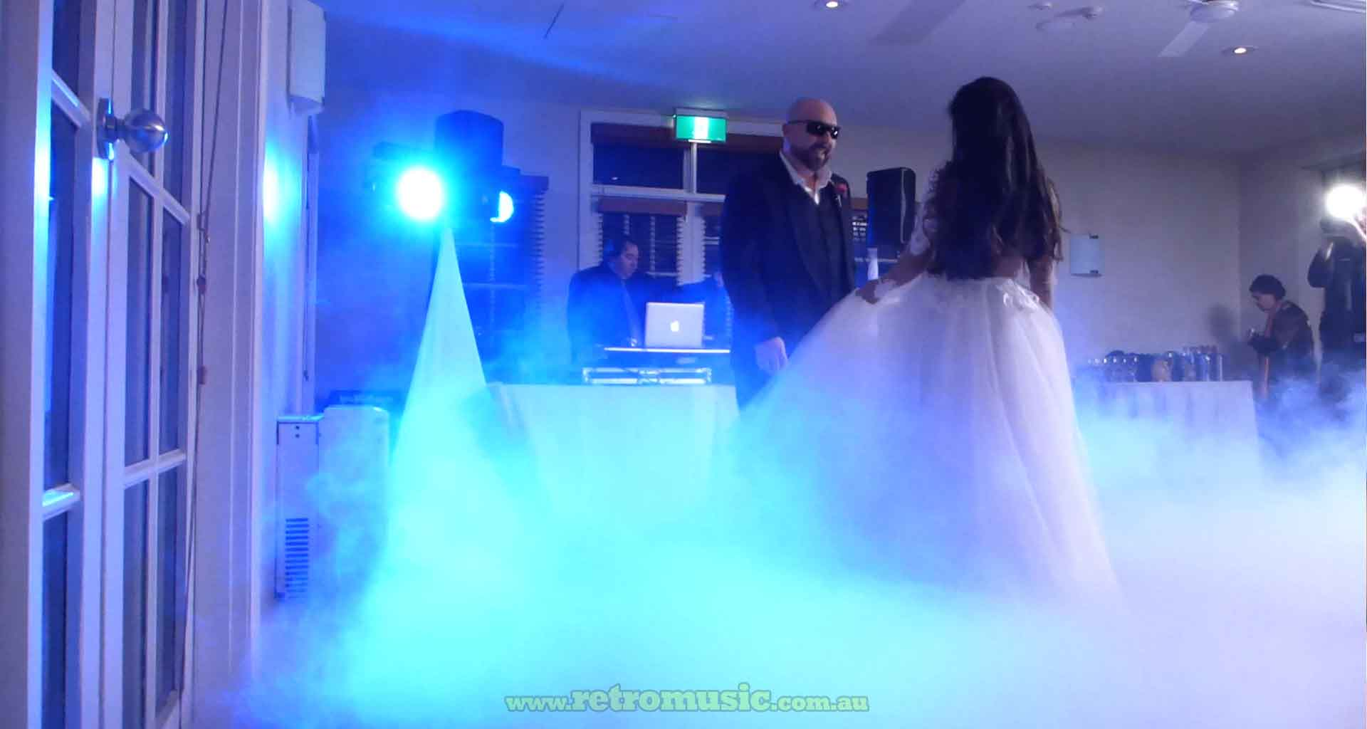 Sydney Wedding-Dance-Dry-Ice-Smoke-effect Hire