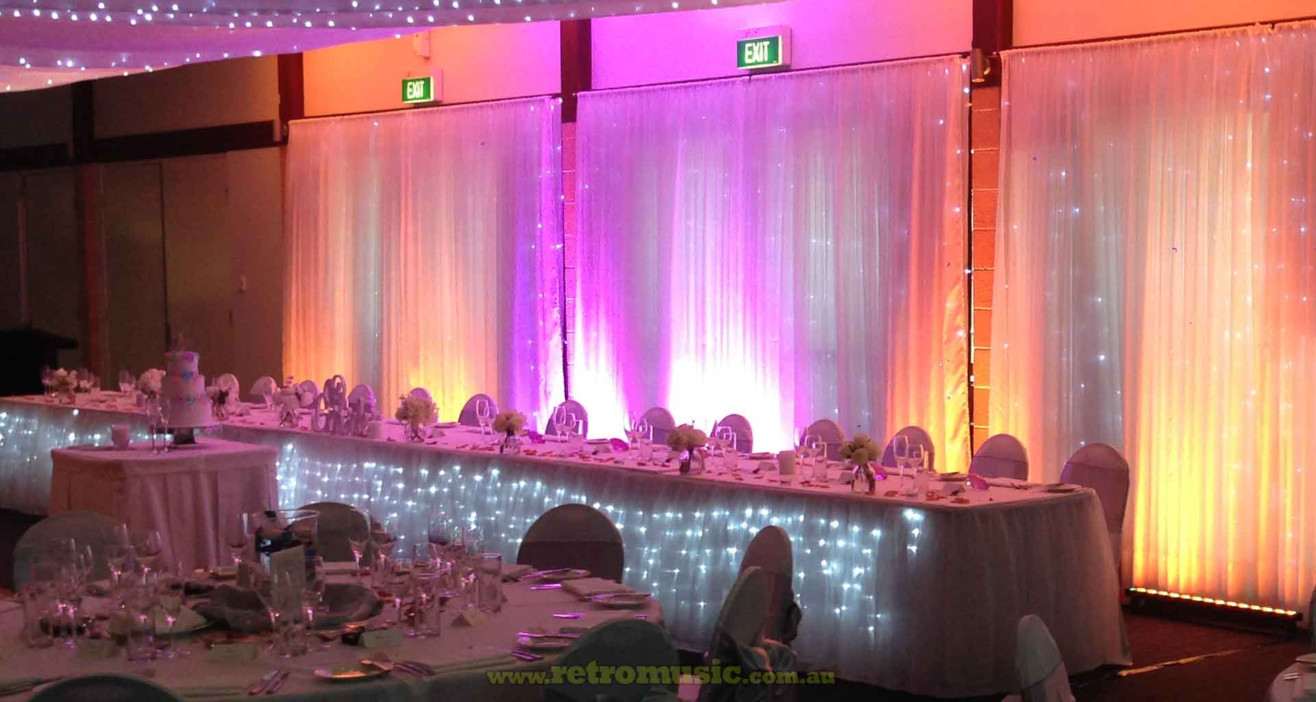 Wedding-Lighting-Rainbow-colours-Hire in Sydney